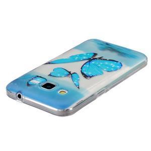 Transparentní gelový obal na Samsung Galaxy Core Prime - modří motýlci - 3