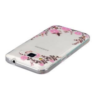 Transparentní gelový obal na Samsung Galaxy Core Prime - květiny - 3