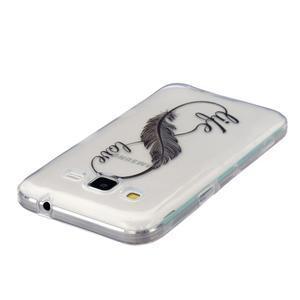 Transparentní gelový obal na Samsung Galaxy Core Prime - love - 3