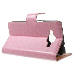 Horse PU kožené pouzdro na mobil Samsung Galaxy Core Prime - růžové - 3