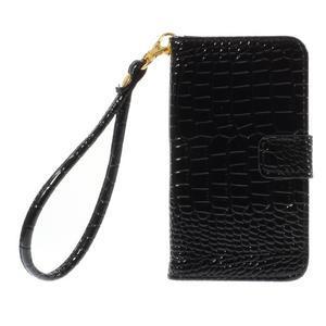 Croco peněženkové pouzdro na Samsung Galaxy Core Prime - černé - 3