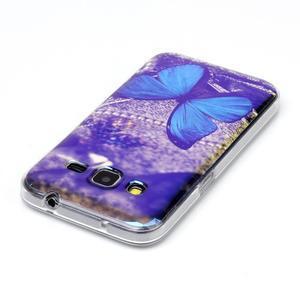 Bluray gelový obal s odlesky na Samsung Galaxy Core Prime - modrý motýl - 3
