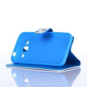 Standy peněženkové pouzdro na Samsung Galaxy Core Prime - modrá očka - 3