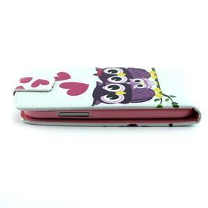 Flipové pouzdro na mobil Samsung Galaxy Core Prime - zamilované sovy - 3