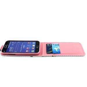 Flipové pouzdro na mobil Samsung Galaxy Core Prime - květiny - 3
