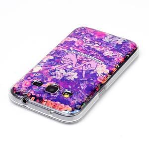 Bluray gelový obal s odlesky na Samsung Galaxy Core Prime - květiny - 3