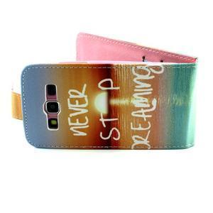Flipové pouzdro na mobil Samsung Galaxy Core Prime - nepřestávej snít - 3