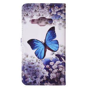 Emotive koženkové pouzdro na Samsung Galaxy J1 (2016) - motýlek - 3