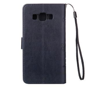 Magicfly PU kožené pouzdro na mobil Samsung Galaxy J1 (2016) - tmavěmodré - 3