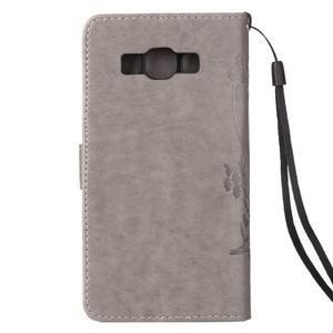 Magicfly PU kožené pouzdro na mobil Samsung Galaxy J1 (2016) - šedé - 3