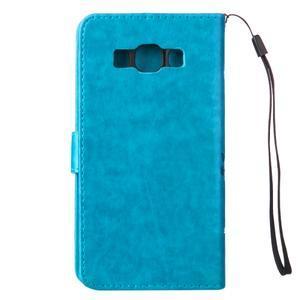 Magicfly PU kožené pouzdro na mobil Samsung Galaxy J1 (2016) - modré - 3