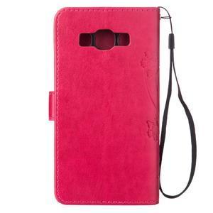 Magicfly PU kožené pouzdro na mobil Samsung Galaxy J1 (2016) - rose - 3