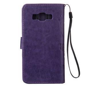 Magicfly PU kožené pouzdro na mobil Samsung Galaxy J1 (2016) - fialové - 3