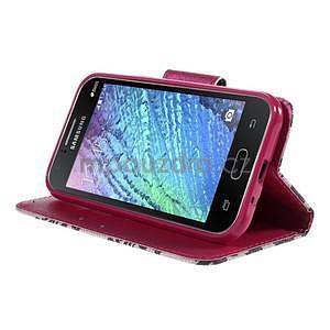 Zapínací pouzdro pro Samsung Galaxy J1 - mašlička - 3