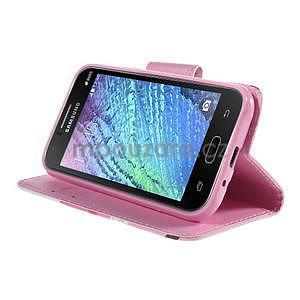 Zapínací pouzdro pro Samsung Galaxy J1 - kvetoucí větvička - 3