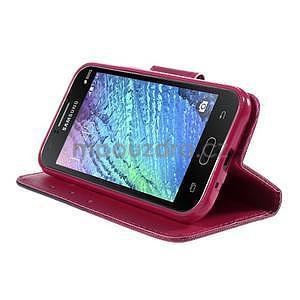 Zapínací pouzdro pro Samsung Galaxy J1 - květinové srdce - 3