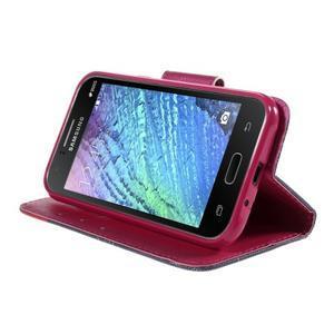 Zapínací pouzdro pro Samsung Galaxy J1 - červená květina - 3