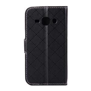 Elegantní pouzdro na Samsung Galaxy J1 - černé - 3