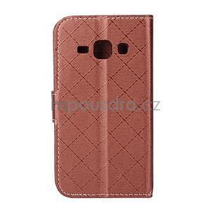 Elegantní pouzdro na Samsung Galaxy J1 - hnědé - 3