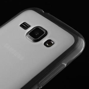 Matný gelový obal na Samsung Galaxy J1 - bílý - 3
