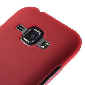 Červený matný kryt na Samsung Galaxy J1 - 3