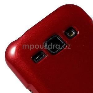 Červený gelový obal na Samsung Galaxy J1 - 3