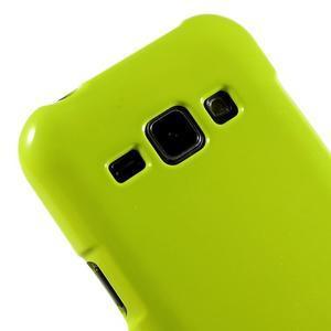 Zelený gelový obal na Samsung Galaxy J1 - 3