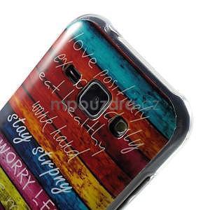 Gelový kryt na Samsung Galaxy J1 - barvy dřeva - 3
