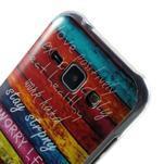 Gelový kryt na Samsung Galaxy J1 - barvy dřeva - 3/4