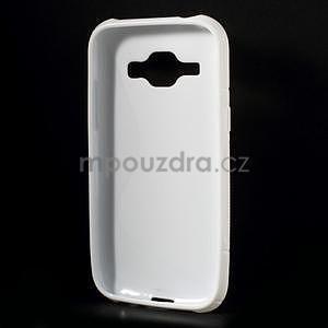 Bílý gelový s-line obal Samsung Galaxy J1 - 3
