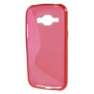 Červený gelový s-line obal Samsung Galaxy J1 - 3