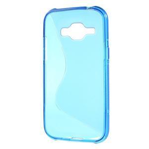 Modrý gelový s-line obal Samsung Galaxy J1 - 3