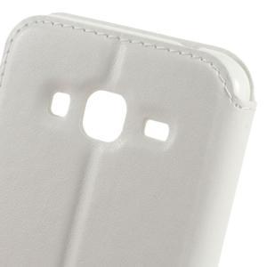 Peněženkové PU kožené pouzdro s okýnkem na Samsung Galaxy J3 (2016) - bílé - 3