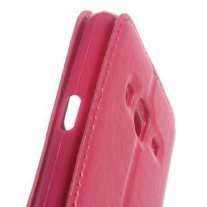 Peněženkové PU kožené pouzdro s okýnkem na Samsung Galaxy J3 (2016) - rose - 3