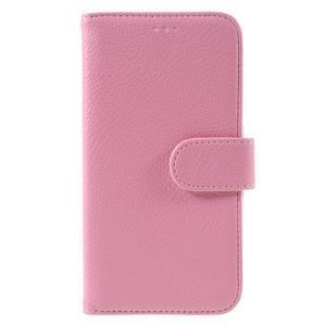 High PU kožené pouzdro na mobil Samsung Galaxy J3 (2016) - růžové - 3