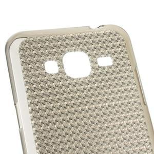 Diamond gelový obal na mobil Samsung Galaxy J3 (2016) - šedý - 3