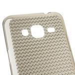 Diamond gelový obal na mobil Samsung Galaxy J3 (2016) - šedý - 3/4