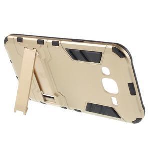 Odolný kryt 2v1 se stojánkem na Samsung Galaxy J5 - zlatý - 3