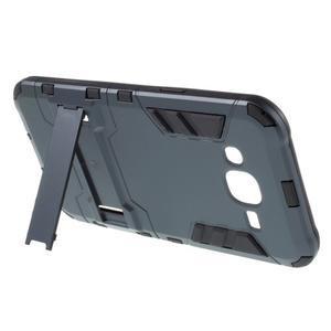 Odolný kryt 2v1 se stojánkem na Samsung Galaxy J5 - tmavěmodrý - 3