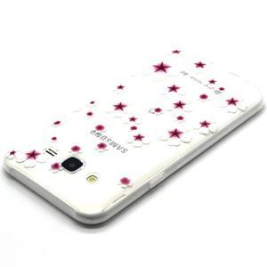 Trasnparent gelový obal na Samsung Galaxy J5 - květinky - 3