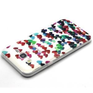 Trasnparent gelový obal na Samsung Galaxy J5 - srdíčka - 3