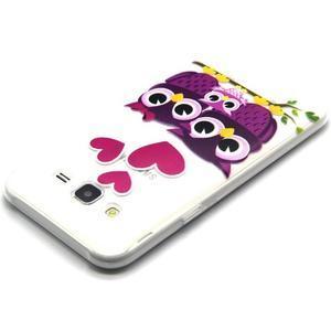 Trasnparent gelový obal na Samsung Galaxy J5 - soví rodinka - 3