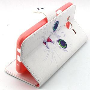 Knížkové pouzdro na mobil Samsung Galaxy J5 - kočička - 3