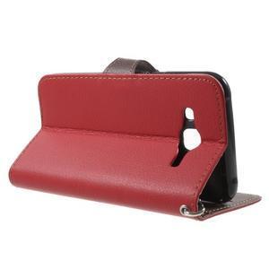 Leaf peněženkové pouzdro na Samsung Galaxy J5 - červené - 3