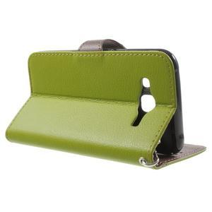 Leaf peněženkové pouzdro na Samsung Galaxy J5 - zelené - 3