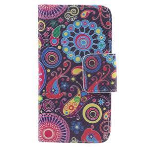 Dairy peněženkové pouzdro na Samsung Galaxy J5 - barevné kruhy - 3