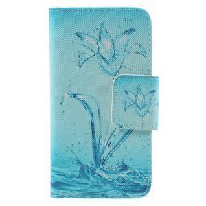 Dairy peněženkové pouzdro na Samsung Galaxy J5 - vodní květ - 3