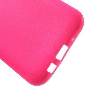 Texturový gelový obal na Samsung Galaxy J5 - rose - 3