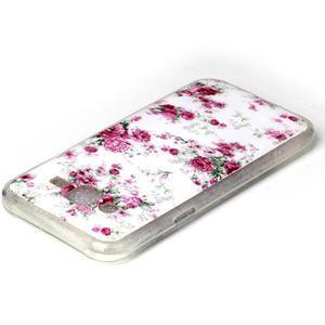 Softy gelový obal na mobil Samsung Galaxy J5 - květiny - 3