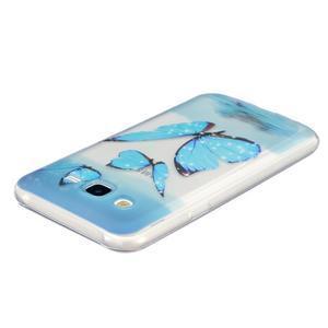 Trans gelový obal na mobil Samsung Galaxy J5 - modří motýlci - 3
